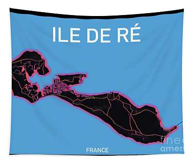 Ile De Re Map Tapestry