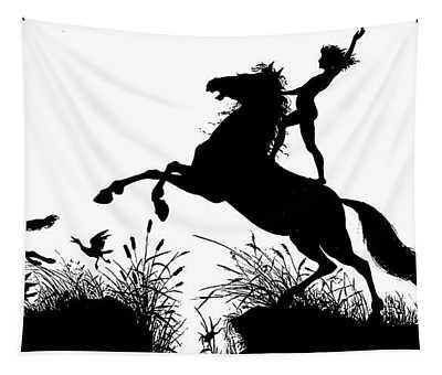 Illustration For Per Aspera Ad Astra Tapestry