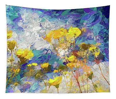 Impressions Of Desert Sunflowers Tapestry