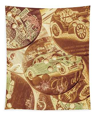 In Fashion Of Classic Cars Tapestry