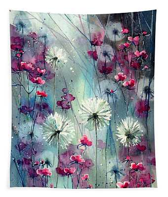 In The Night Garden - Pink Buds  Tapestry
