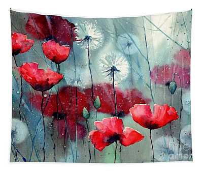 In The Night Garden - Rising Poppies Tapestry
