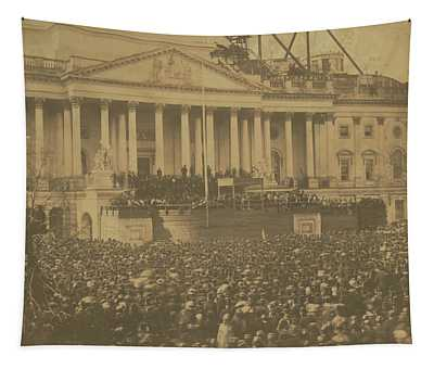 Inauguration Of Abraham Lincoln, March 4, 1861 Tapestry