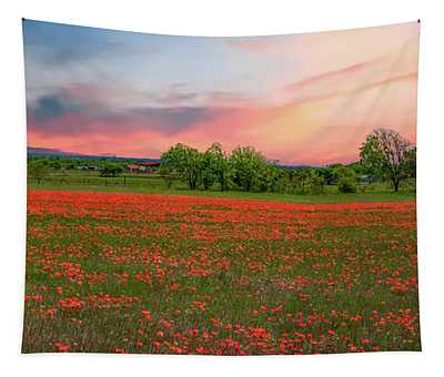 Indian Paintbrush Field Tapestry