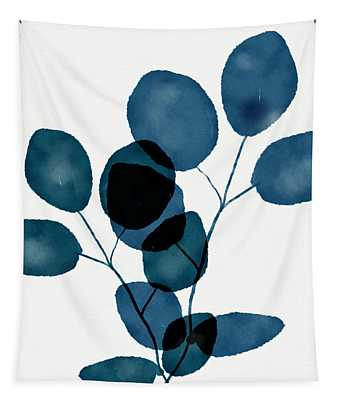 Indigo Eucalyptus 3- Art By Linda Woods Tapestry