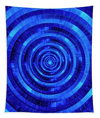 Infinity Tunnel Milky Way Zoom Circles Tapestry