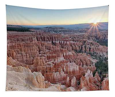 Inspiration Point Sunrise Bryce Canyon National Park Summer Solstice Tapestry