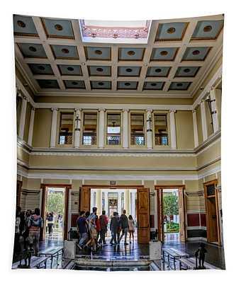 Interior Color J Paul Getty Villa Santa Monica California  Tapestry