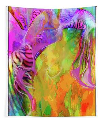 Iris Psychedelic  Tapestry