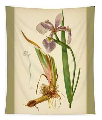 Iris Versicolor Blue Flag Tapestry