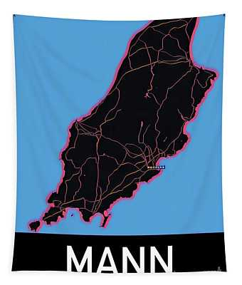 Isle Of Man Map Tapestry