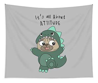 It's All About Attitude - Baby Room Nursery Art Poster Print Tapestry