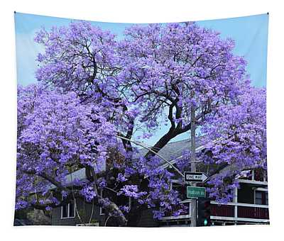 Jacaranda Tree, Pasadena, California Tapestry