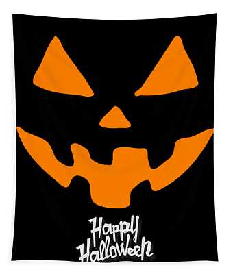 Jackolantern Pumpkin Happy Halloween Tapestry
