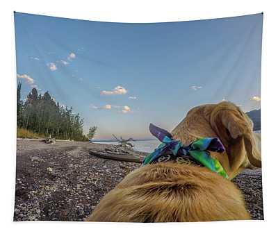 Jackson Lake By Photo Dog Jackson Tapestry