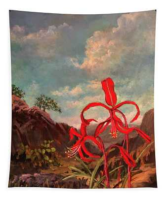 Jacobean Lily Of Mexico Tapestry