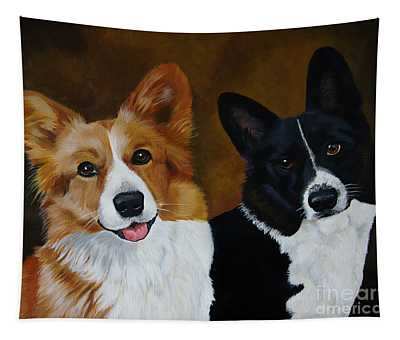 James And Joy Custom Portrait Painting Tapestry