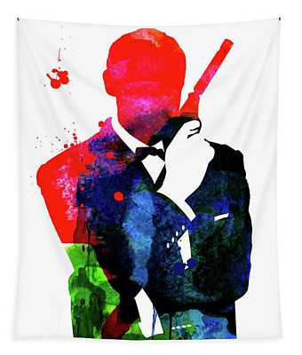 James Bond 007 Watercolor V Tapestry