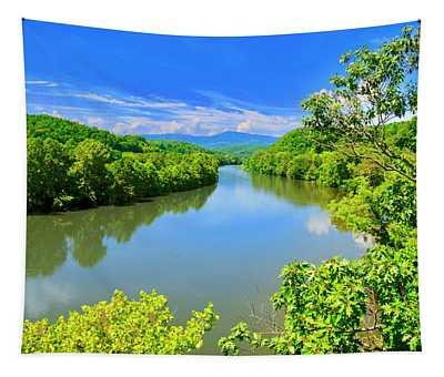 James River, From The James River Bridge, Va Tapestry