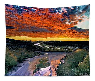 January Sunset Tapestry