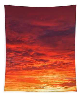 January Sunset - Vertirama 2 Tapestry