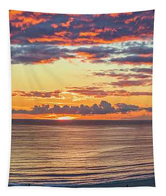 January Sunset - Vertirama 3 Tapestry
