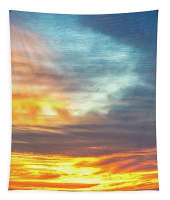 January Sunset - Vertirama Tapestry