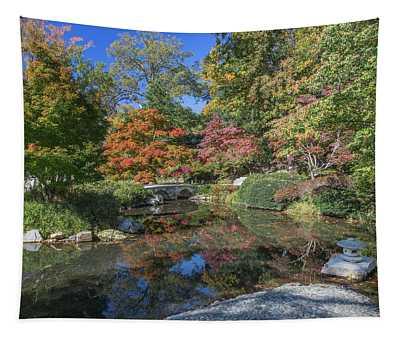 Japanese Garden Bridge Maymont Tapestry