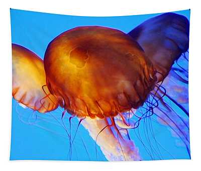 Jellyfish Paintography Tapestry