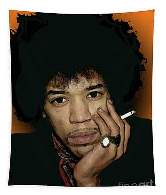 Jimi Hendrix With Cigarette Tapestry
