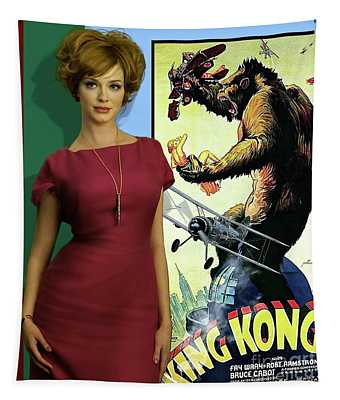 Joan Holloway, King Kong, Faye Wray, New York, Empire State Building Tapestry