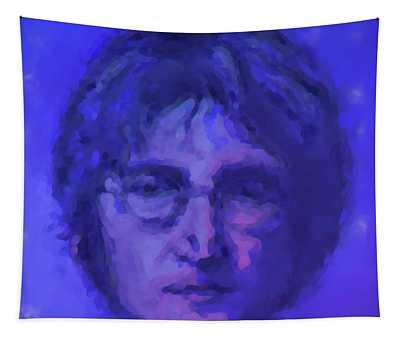 John Lennon Study In Blue Tapestry