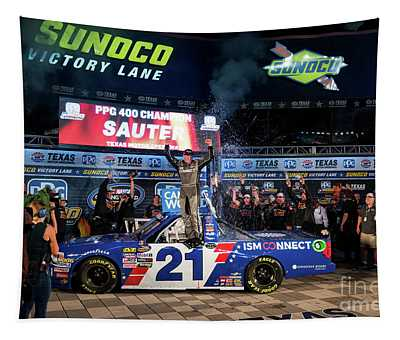 Johnny Sauter In The Winners Circle Tapestry