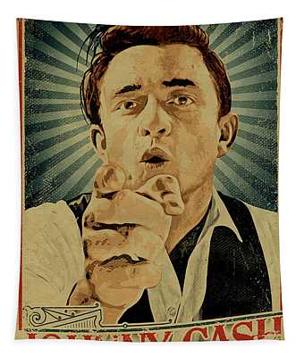 Johnny Walk The Line Tapestry