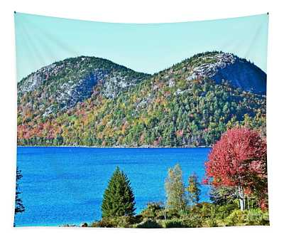 Tapestry featuring the photograph Jordan Pond Bubbles by Patti Whitten