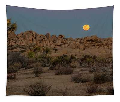 Joshua Tree And Moon Tapestry