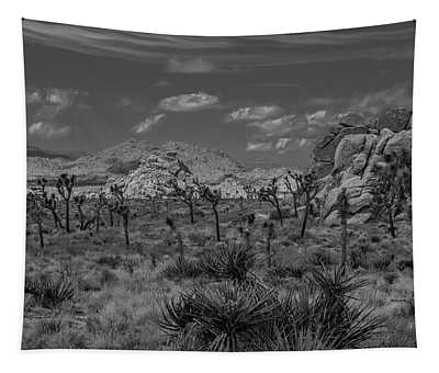 Joshua Tree In Black And White Tapestry