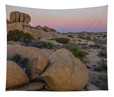 Joshua Tree On The Rocks Tapestry