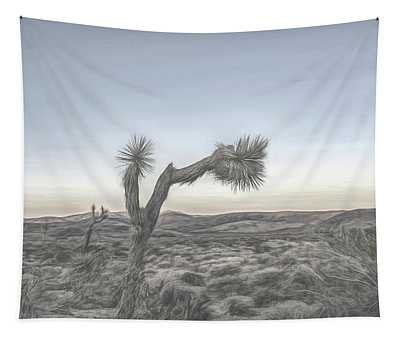 Joshua Tree Sketch Tapestry
