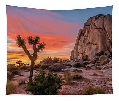 Joshua Tree Sunset Tapestry