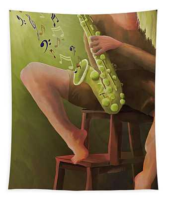 Joys Of The Saxophone Tapestry