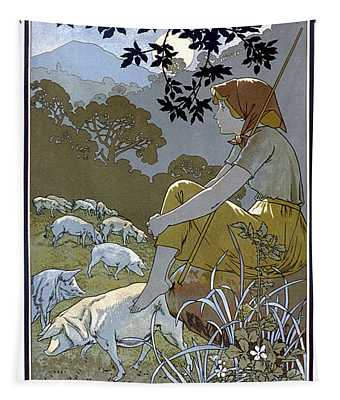 Juan Torra Fabrica Salchicon Vintage French Advertising Tapestry