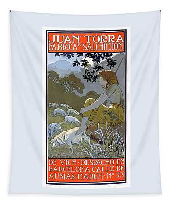 Juan Torra Fabrica Salchicon Vintage French Advertising Tapestry
