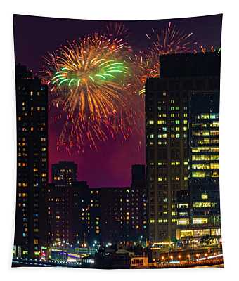 July 4th In New York City Tapestry
