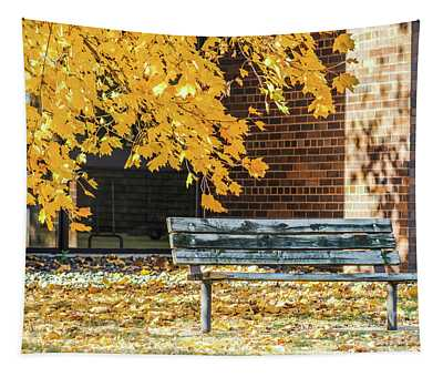 Just A Bench Tapestry