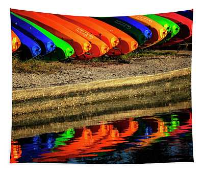 Kayak Reflections Tapestry