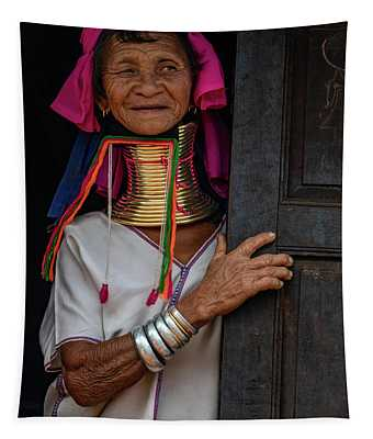 Kayan Lahwi Long Necked Lady Tapestry