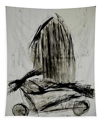 Keanu - Abstract Ink Painting  Tapestry