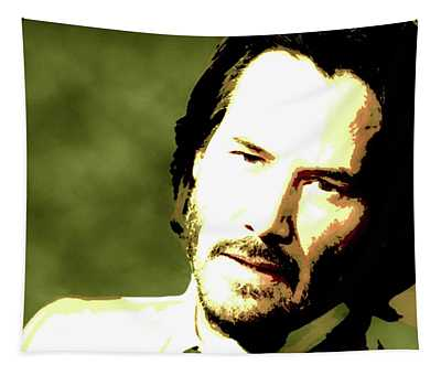 Keanu Reeves Portrait Painting Tapestry