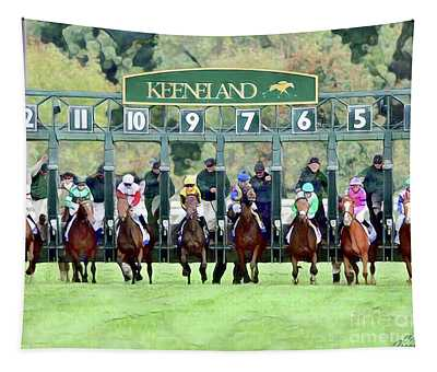 Keeneland Starting Gate Tapestry